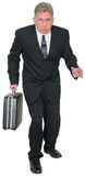 Confident Business Man Walking Isolated royalty free stock photos
