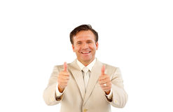 Confident business manager smiling at the camera Royalty Free Stock Photos