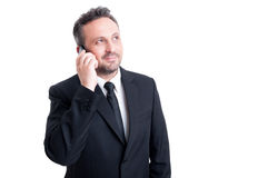 Confident business manager talking on the phone Stock Images