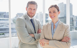 Confident business partners royalty free stock images