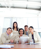 Confident business partners  in a meeting Royalty Free Stock Images