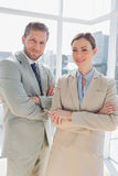 Confident business partners smiling at camera Royalty Free Stock Photography