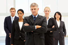 Confident business people. Looking at camera Royalty Free Stock Image