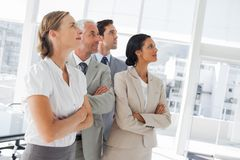 Confident business people looking at the same way Royalty Free Stock Images