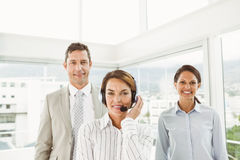 Confident business people in the office Royalty Free Stock Photos