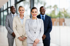 Confident business people. Portrait of confident business people in office royalty free stock image