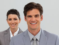 Confident Business people standing in a line Stock Photos