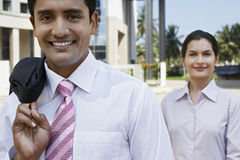 Confident Business People Standing Outside Building Royalty Free Stock Photo