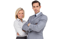 Confident business people standing together Royalty Free Stock Images
