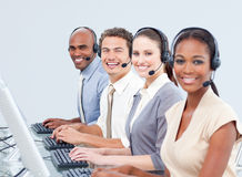 Confident business people working in a call center Stock Photography