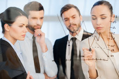 Confident business planning. Stock Photos