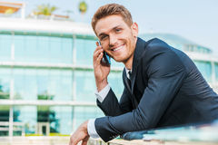 Confident business talk. Royalty Free Stock Photo