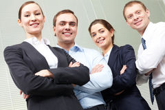 A confident business team Stock Photo