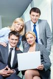 A confident business team Royalty Free Stock Photography