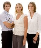 Confident Business Team. Three confident young business people Royalty Free Stock Photo