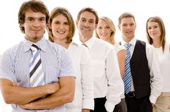 Confident Business Team. A group of six individuals make a confident business team Stock Photos