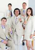 Confident business team celebrating a success Royalty Free Stock Photography
