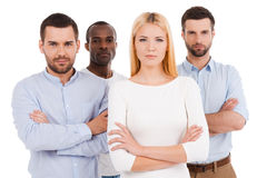 Confident business team. Royalty Free Stock Photos