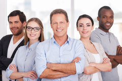 Confident business team. Royalty Free Stock Photography