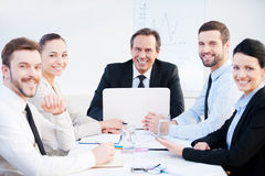 Confident business team. Stock Photos