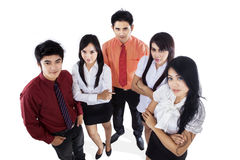 Confident business team isolated Stock Photos