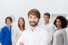 Confident business team leader Royalty Free Stock Photography