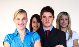 Confident business team looking at the camera Stock Image