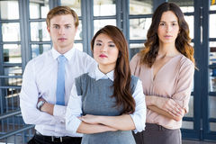 Confident business team in office Stock Image