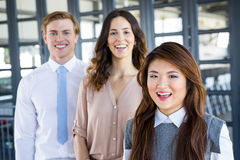 Confident business team in office Stock Photos