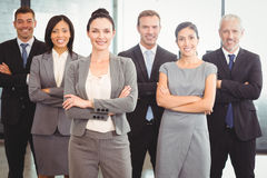 Confident business team in office Stock Photography
