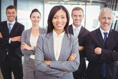 Confident business team in office Royalty Free Stock Images