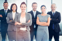 Confident business team in office royalty free stock photo