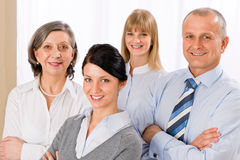 Confident business team smiling portrait Royalty Free Stock Image