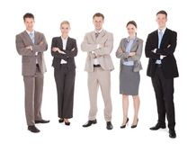 Confident Business Team Standing Arms Crossed Stock Photos