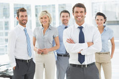 Confident business team together in office Royalty Free Stock Photos