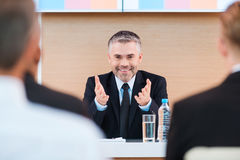 Confident business trainer. Stock Images