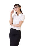 Confident business woman Stock Images