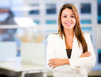 Confident business woman Stock Photos