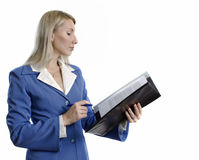 Confident business woman with a contract Royalty Free Stock Photos