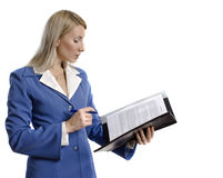 Confident business woman with a contract Stock Photography
