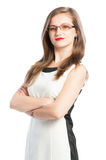 Confident business woman with crossed arms Stock Images