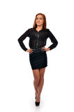 Confident business woman in full length pose Royalty Free Stock Photo