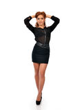 Confident business woman in full length pose Stock Photo