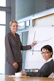 Confident business woman giving presentation royalty free stock image
