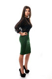 confident business woman with hands on waist Royalty Free Stock Photos