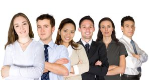 Confident business woman and her business team Royalty Free Stock Photos