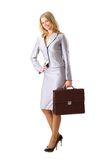 Confident business woman holding a briefcase Royalty Free Stock Photos