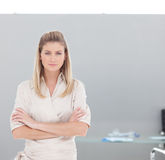 Confident Business woman looking at camera Stock Photo