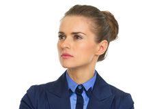 Confident business woman looking on copy space Stock Image
