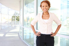Confident Business Woman at Office Stock Image